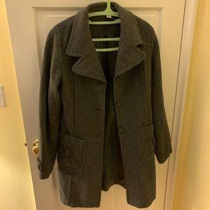 Grey pea coat by BP (size L)